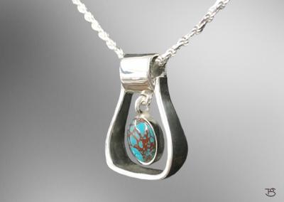 Stirrup Necklace w/ Turquoise Stone