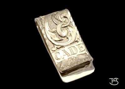 custom money clip front