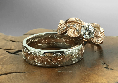 engraved-wedding-ring-set