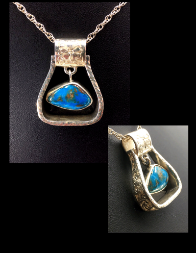 engraved-stirrup-pendant-with-opal center stone